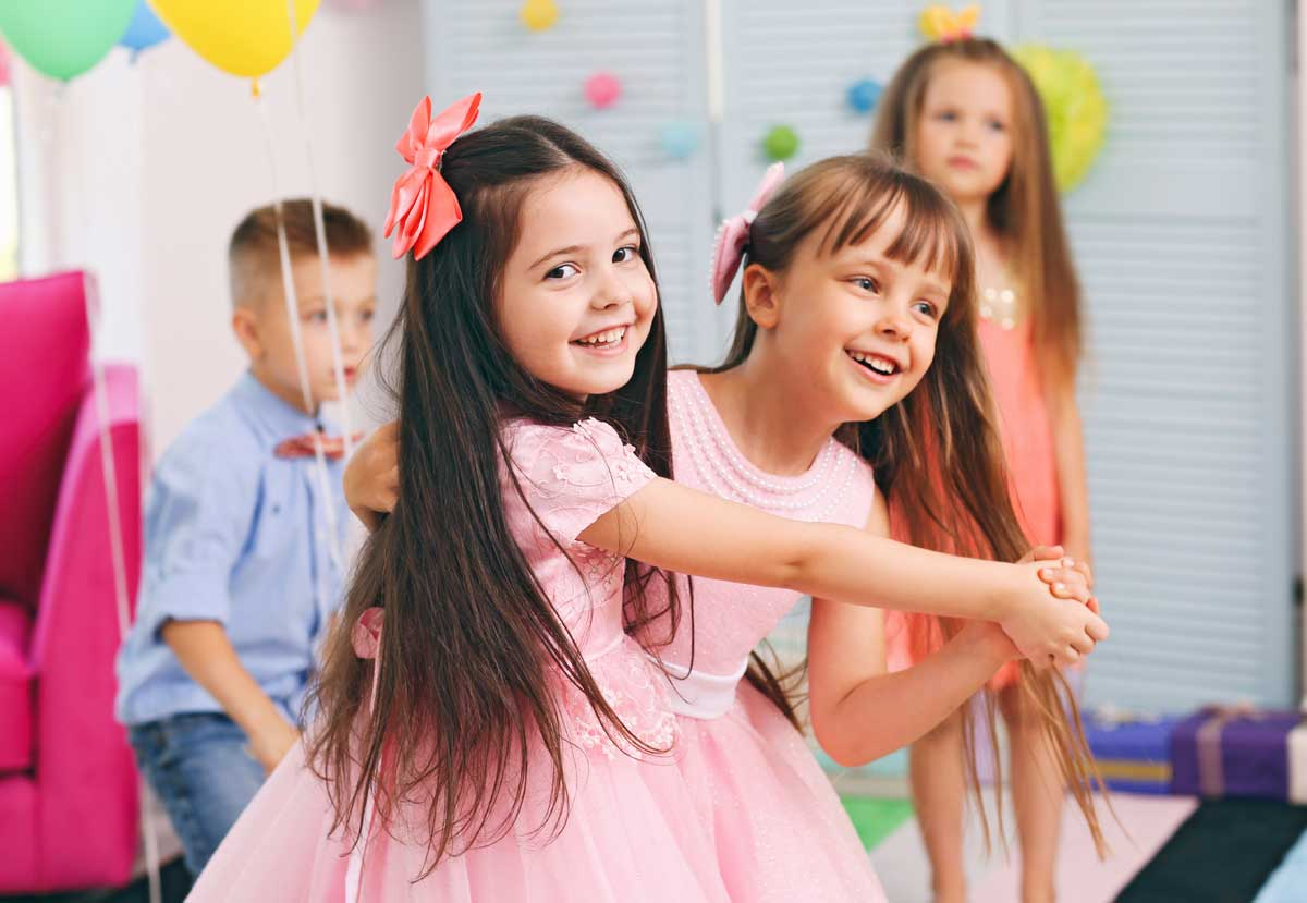 Girls dancing at party